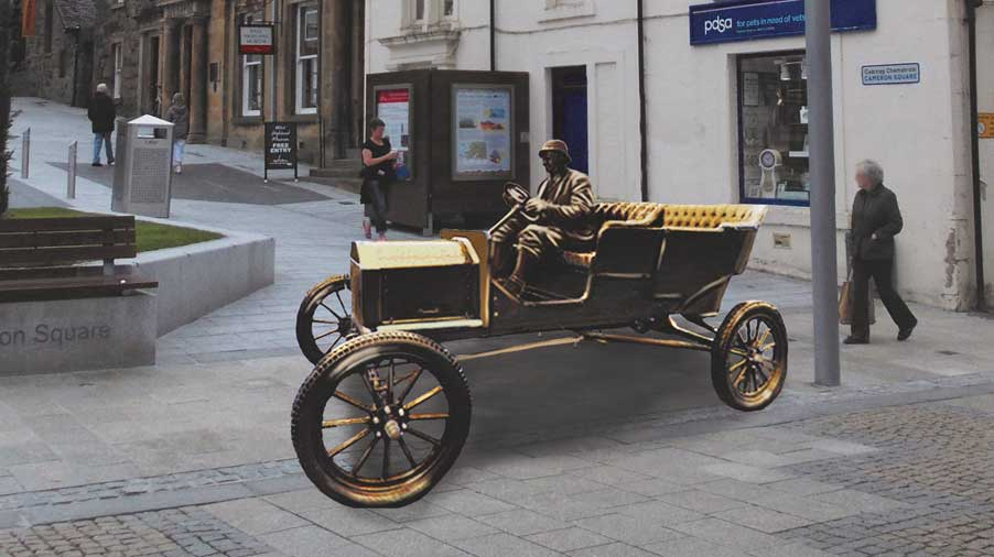 Model T Car Sculpture
