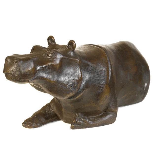 Hippo Coffee Table bespoke bronze sculpture | mark stoddart | elephant coffee table