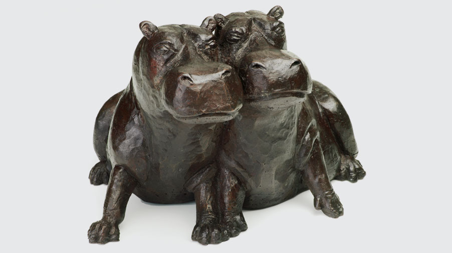 Bronze Hippo Sculptures