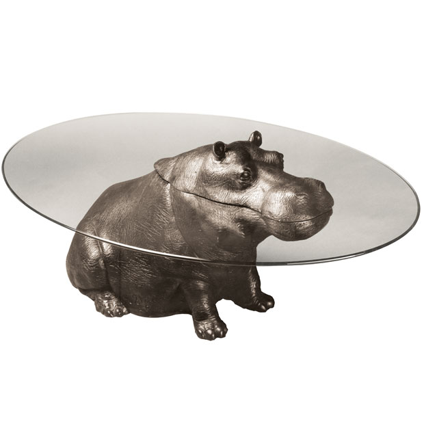bespoke bronze sculpture mark stoddart cheeky hippo With hippo coffee table