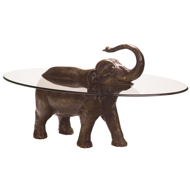 Bespoke bronze sculpture mark stoddart elephant coffee table Elephant coffee table