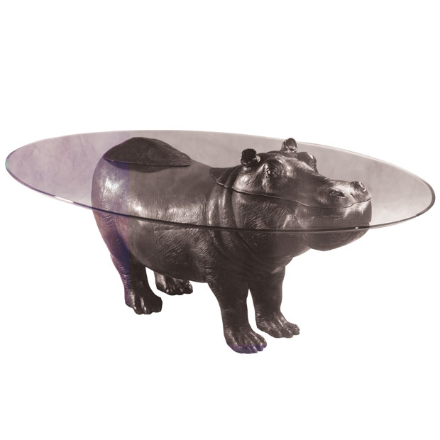 Bespoke Bronze Sculpture Mark Stoddart Hippo Coffee Table