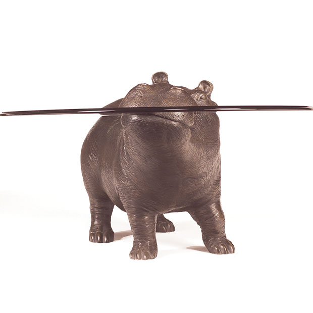 Bespoke Bronze Sculpture Mark Stoddart Hippo The Lad