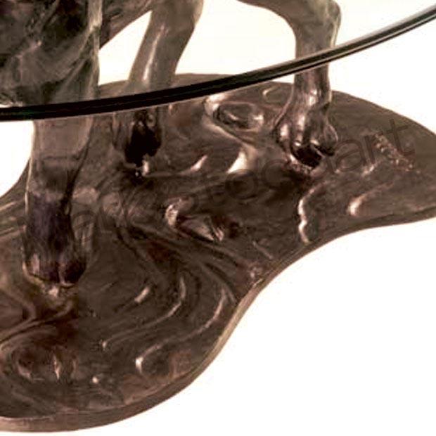 Bespoke Bronze Sculpture Mark Stoddart Labrador Coffee Table