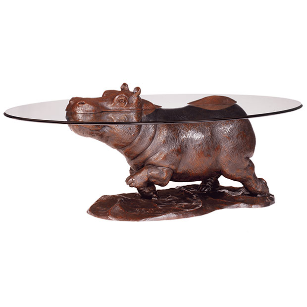 Bespoke Bronze Sculpture Walk On The Wildside Coffee Table